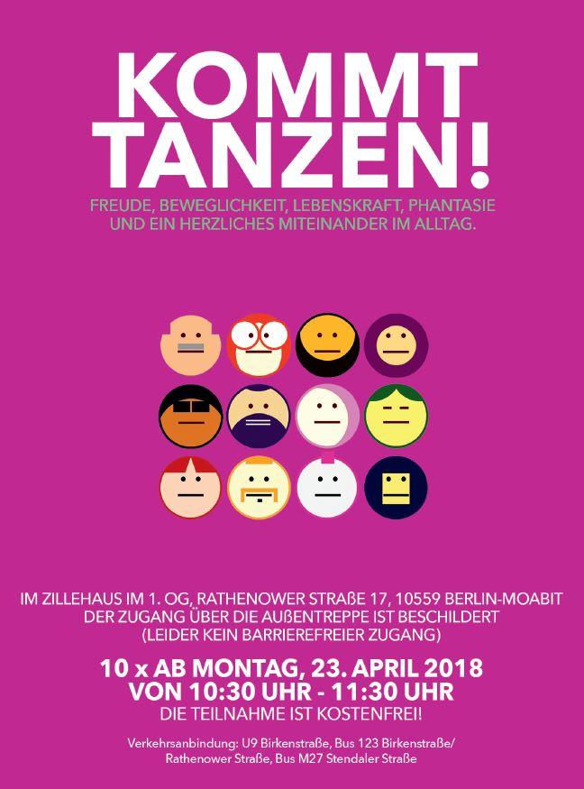 Flyer: Kommt Tanzen! art.e.m/stadtmuster